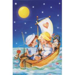06274.Puzzle 60 Sõbrad kuuvalgel purjetamas