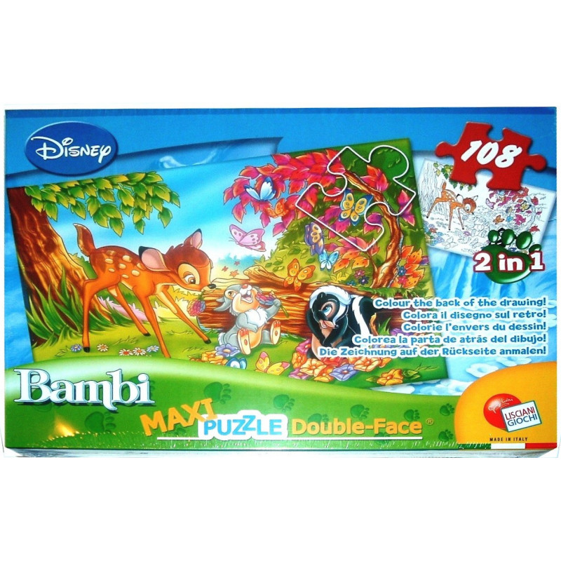 5818. PUZZLE 2in1 108TK MAXI BAMBI