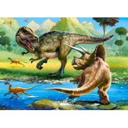 070084. Puzzle 70 Tyrannosaurus vs Triceratops