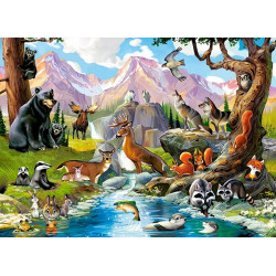 070091. Puzzle 70 Forest Animals