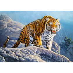 53346. Puzzle 500 Tiger on the Rocks