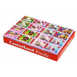Puzzle 54 B2 mini. koerad, kassid