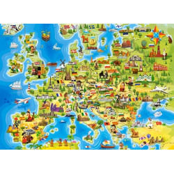 Puzzle 100 Map of Europe 111060