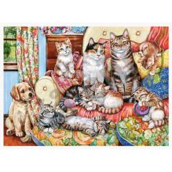 Puzzle 300 Cat Family 030439