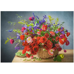 Puzzle 500 Bouquet with Poppies 53506