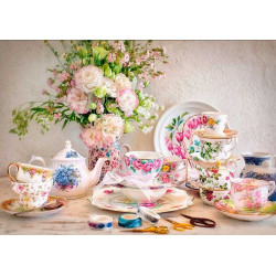 Puzzle 500 Still Life with Porcelain and Flowers 53384