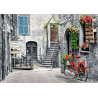 Puzzle 500 CHARMING ALLEY WITH RED BICYCLE 53278
