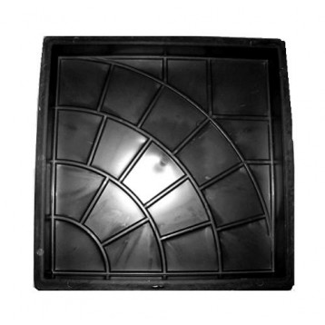 PLASTVORM PLAAT 35x35x5cm (päike) 72/4 4F