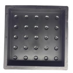 71/17 (18/10) PLASTVORM PLAAT 30,0 x 30,0 x 5,0 cm (mummuline)