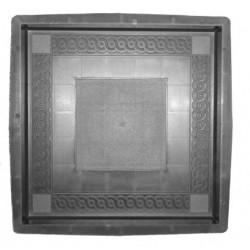 PLASTVORM PLAAT  40x40x5cm (ornam.ruut keskel) 72/15