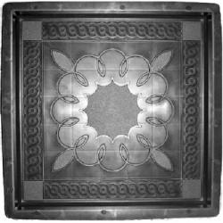 PLASTVORM PLAAT 40x40x5cm (ornament lill keskel)